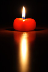 candle in form heart