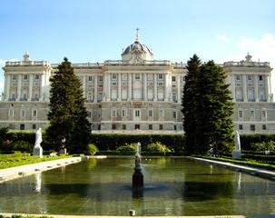 Royal palace, gardens, Madrid, Spain