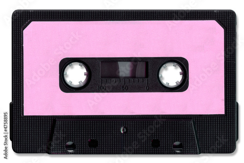 Foto Cassette Tape with clipping path