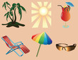 canvas print picture - Beach objects