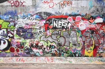 Naklejka graffiti wall