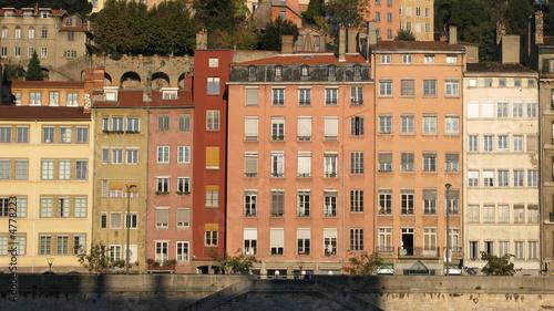 Poster Ligurie Lyon, façades sur les quais de Saône