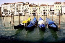 Gondolas Resting, Venice