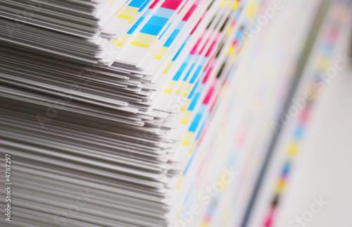 Fotografie, Obraz  CMYK printing sheet color bars