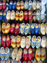 Colorful Shoe Display In Amste...