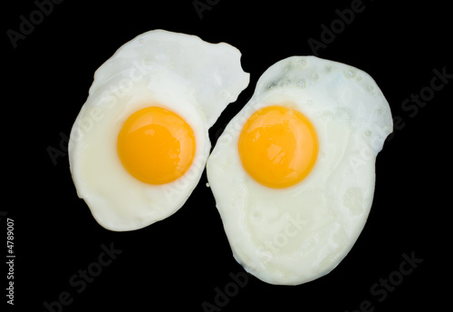 Deurstickers Gebakken Eieren Two Fried Eggs
