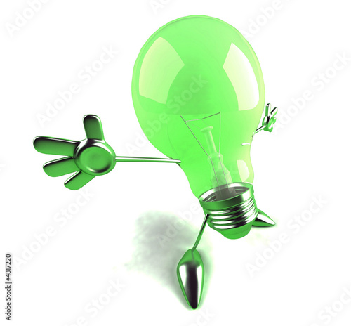 Photo Ampoule verte