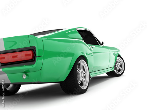 Fotomural Green Classical Sports Car