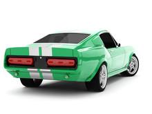 Green Classical Sports Car
