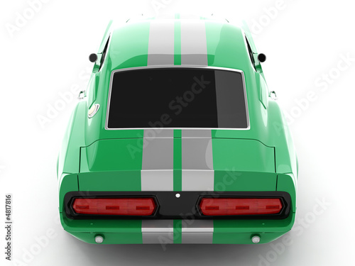 Fotografie, Obraz  Green Classical Sports Car