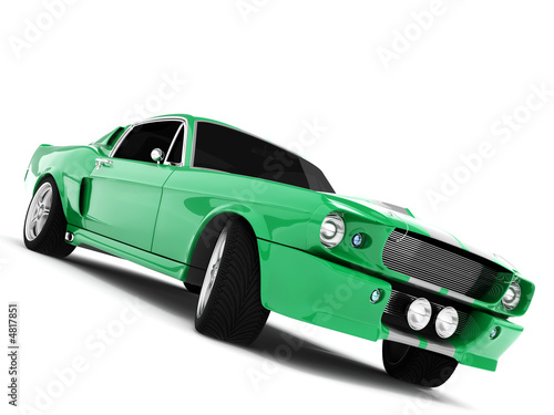 Green Classical Sports Car Canvas Print