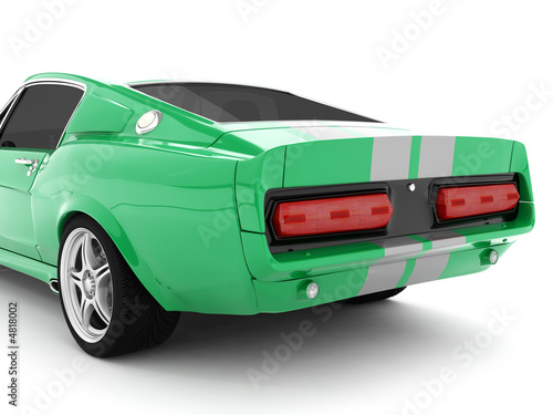 Green Classical Sports Car Wallpaper Mural