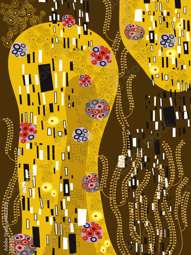 klimt inspired abstract art - 4822828