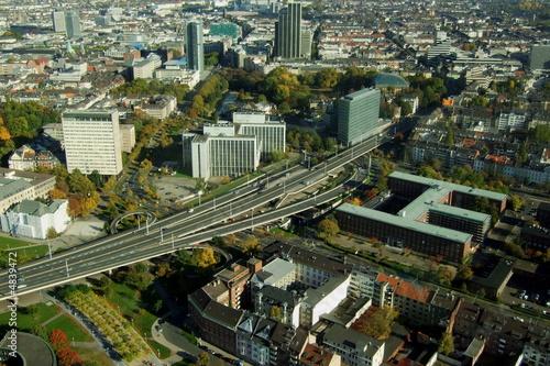Tuinposter Centraal-Amerika Landen Düsseldorfer Innenstadt