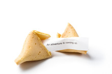 Isolated Broken Fortune Cookie...