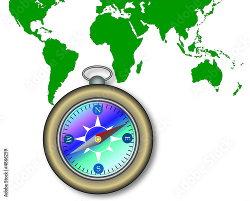 Map Of The World With Compass.Map Of The World With Compass Buy This Stock Illustration And
