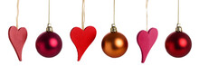 Christmas Hearts And Baubles