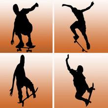Four Skateboarders
