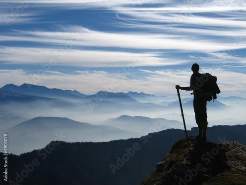 Obraz na plátně Randonnée en montagne