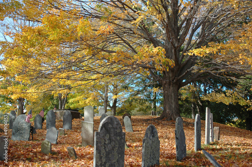 Canvas Prints Cemetery Old Cemetery in October