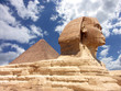 canvas print picture Pyramid and Sphinx at Giza, Cairo