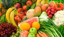Vegetables And Fruits Arrangem...