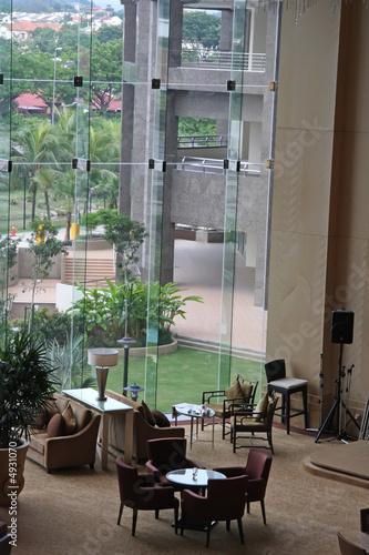 Foto auf AluDibond Gezeichnet Straßenkaffee Cafe lounge