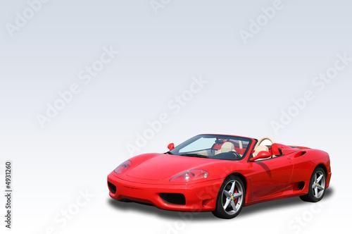 Foto-Doppelrollo - Red Italian convertible sports car on a gradient background (von Christopher Dodge)