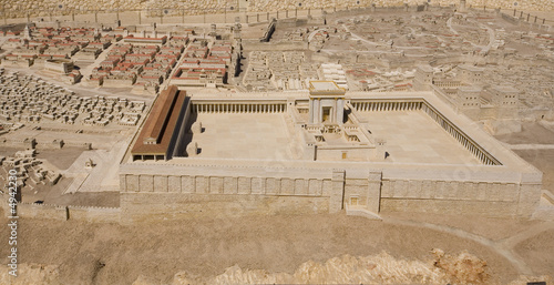 Printed kitchen splashbacks Place of worship Model of the Second Temple at Israel Museum