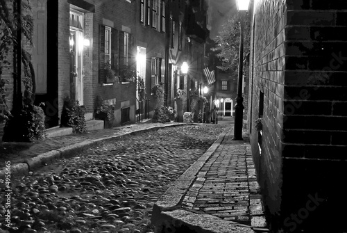 Photographie  old boston street