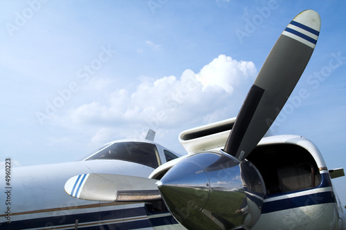 Foto Business plane propeller Retro style