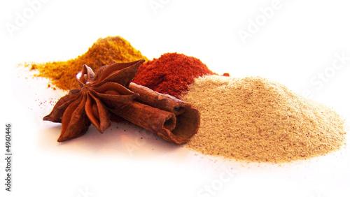 Printed kitchen splashbacks Spices Epices