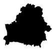 Detailed b/w map of Belarus
