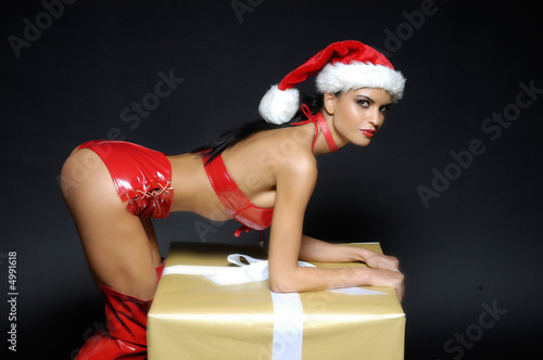 Cadeau Noel Mere.Mere Noel Sexy Cadeau Buy This Stock Photo And Explore