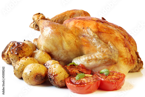 Keuken foto achterwand Kip Roasted Chicken