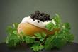 Leinwandbild Motiv Pomme de terre au caviar