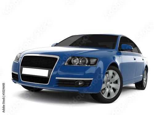 niebieski-samochod-klasy-biznesowej-w-nadwoziu-sedan-na-bialym-tle