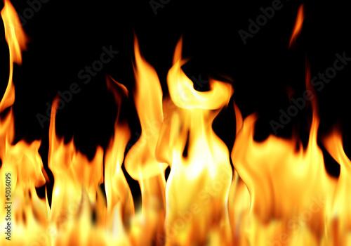 fire flame in blak-3