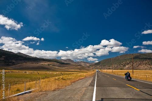 In de dag Route 66 endless road
