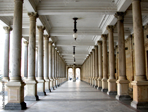 Valokuva Colonnade in the famous spa resort Karlovy Vary aka Karlsbad