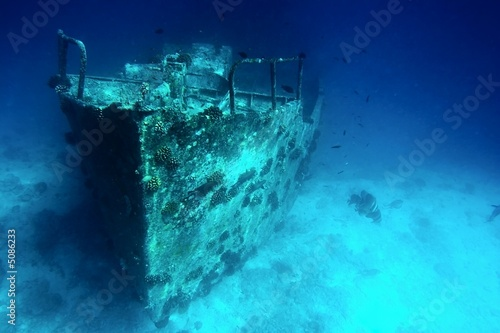 Photo sur Toile Naufrage Sunken ship