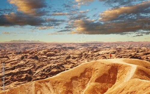 Photo sur Aluminium Cappuccino Moon Landscape in Namib Desert near Swakopmund, Namibia