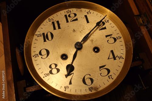 Staande foto Vintage Poster Clock