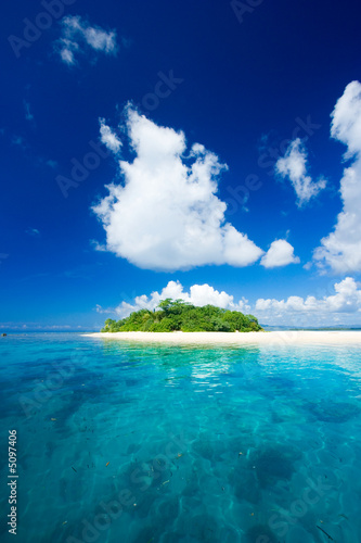 Foto-Kissen - Tropical island vacation paradise