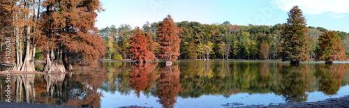 Fotografie, Obraz  Panorama: Virginia Beach Lake