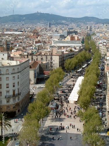Obraz na plátně La Rambla, Barcelona, Spain