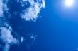 canvas print picture - Himmel mit Wolken und Sonne