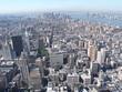 canvas print picture - Blick von wolkenkratzer auf halbinsel manhattan in new york