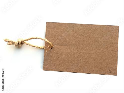 Fotografie, Obraz  étiquette naturelle recyclable