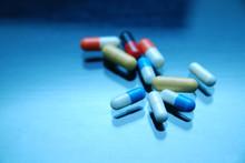 Pills On Glosy Surface